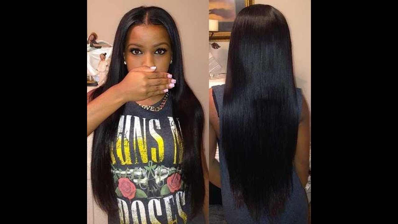 Best Full Sew in Weave with closure On Natural Hair  YouTube