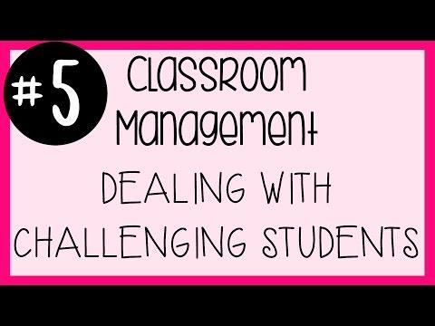 #5 Classroom Management - Challenging Students & Composure | A Classroom Diva