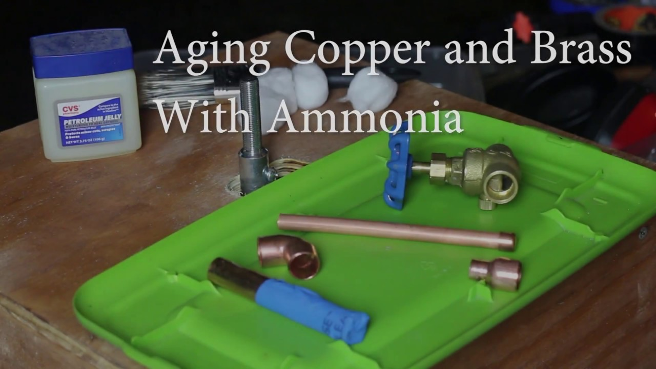 how to age copper and brass with ammonia youtube. Black Bedroom Furniture Sets. Home Design Ideas
