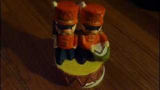 Vintage Sankyo Music Box, Soldier W/ Gun, Drummer, Rotating Platform, Works!
