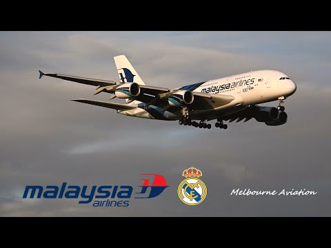 *EXTREMELY RARE* Malaysia Airlines A380 Real Madrid C.F Charter Flight - Melbourne Airport