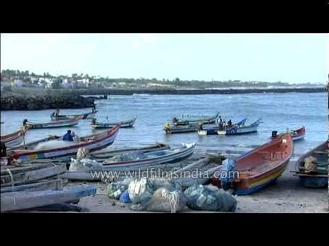 Small fishing port in south India