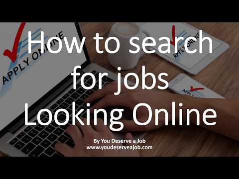 How to search for jobs - Looking Online