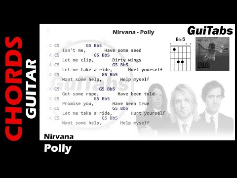 Nirvana- Polly ( Lyrics and GuiTar Chords ) 🎸