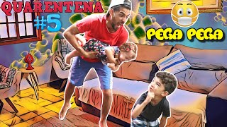 PEGA PEGA em casa com Lucas e Manu - ESTAMOS EM QUARENTENA - Família Rocha