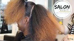 Salon Visit | Straightening Natural Hair (Type 4 hair)
