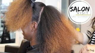 Salon Visit | Straightening Natural Hair (Type 4 hair) thumbnail