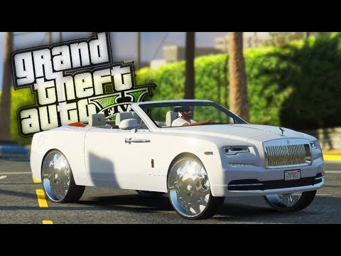 Delivering a Rolls Royce Dawn on Dub Rims! - GTA 5 Real Hood Life - Day 70
