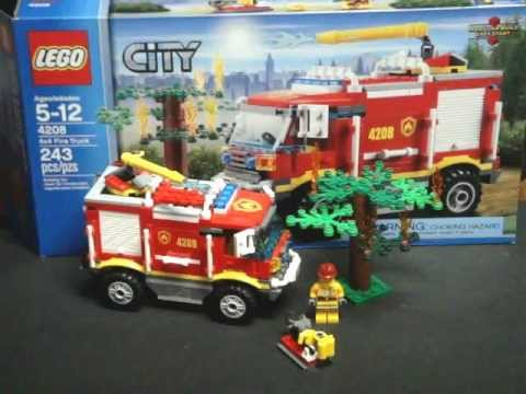 Noob Review Lego 4208 4x4 Fire Truck Youtube