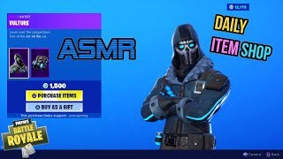 ASMR | Fortnite NEW Vulture Skin Air Strike Set! Item Shop Update 🎮🎧Relaxing Whispering😴💤