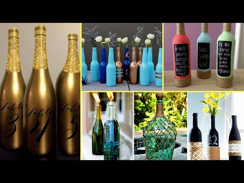 🍼30 + Beautiful Wine Bottle Decorating Ideas – DIY Recycled Room Decor🍼
