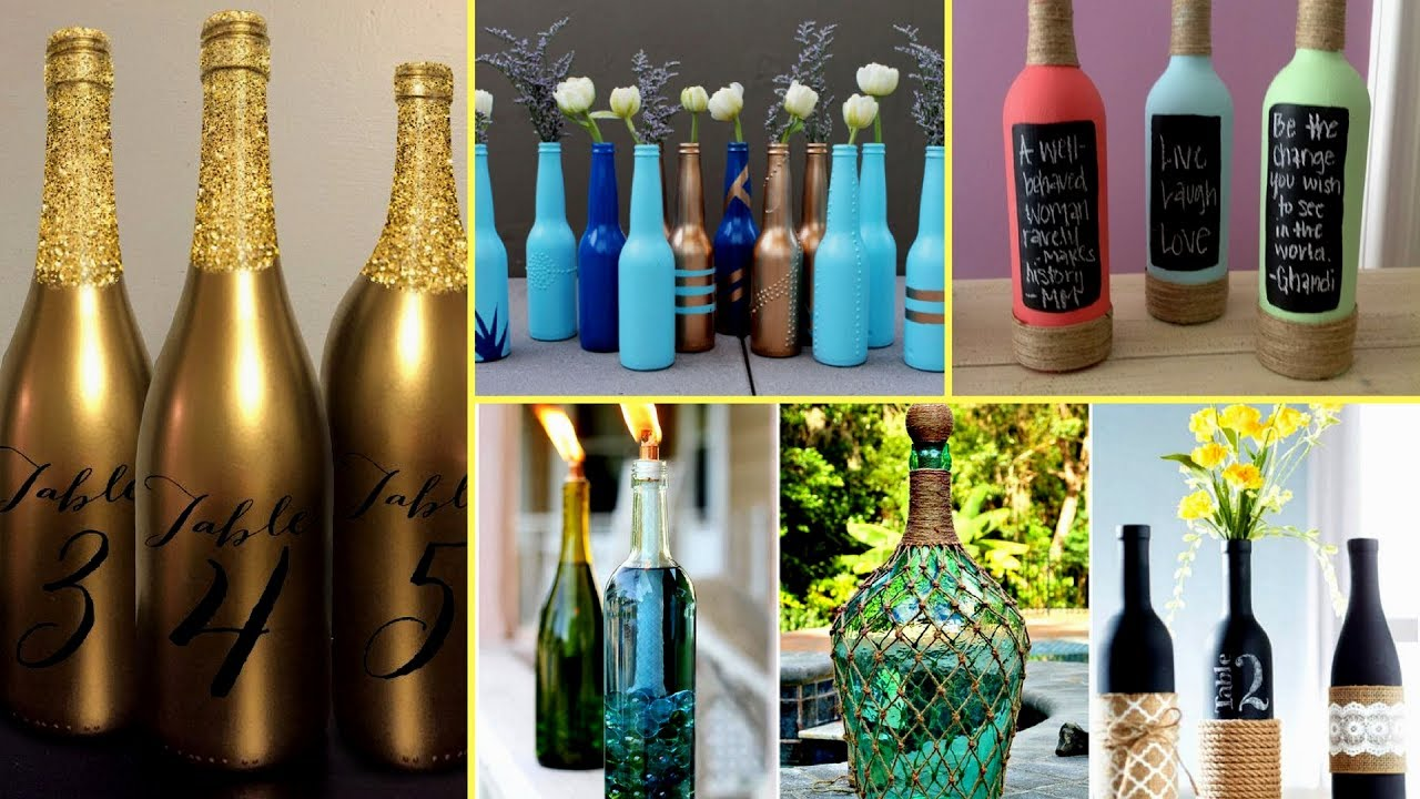diy home decor wine bottles 30 beautiful wine bottle decorating ideas diy recycled 12109