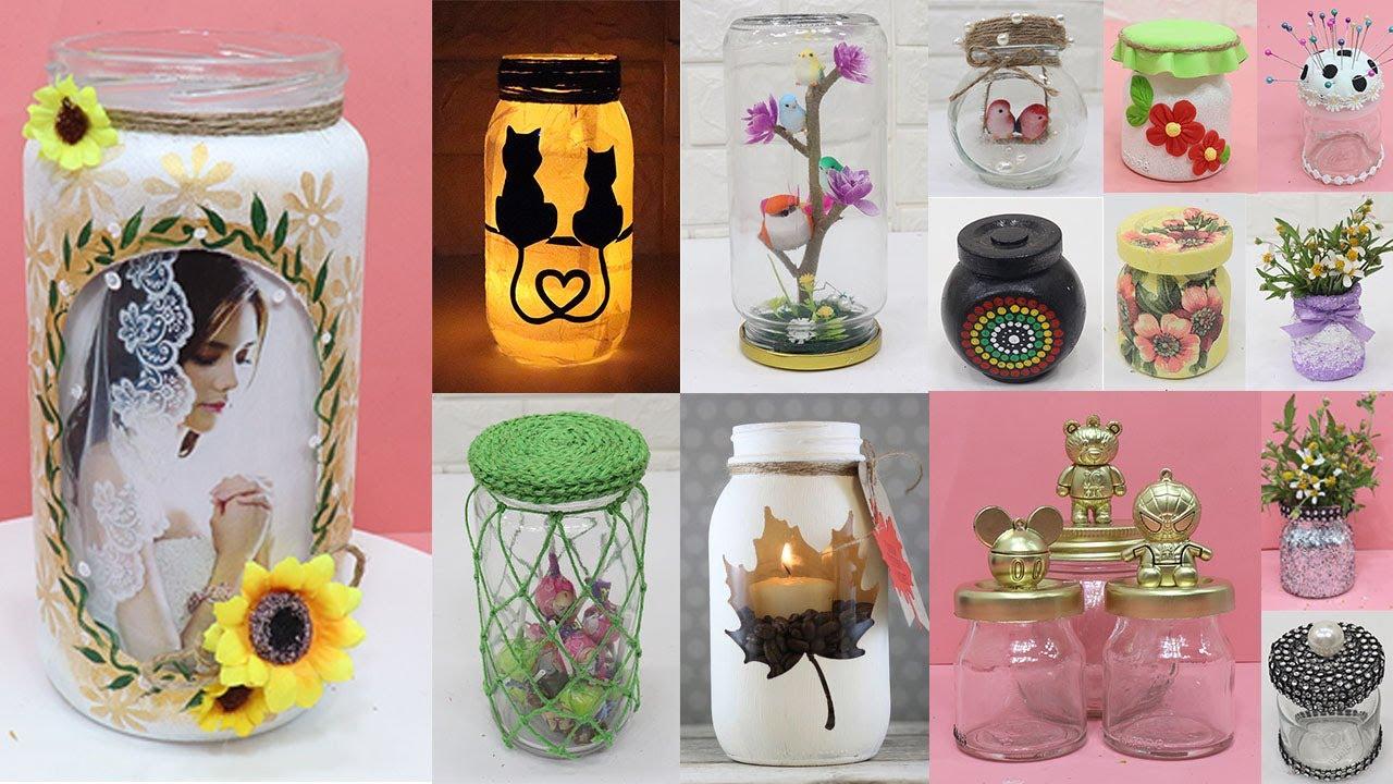 15 Unique Glass Jar Decoration Ideas Home Decorating Ideas Handmade Youtube