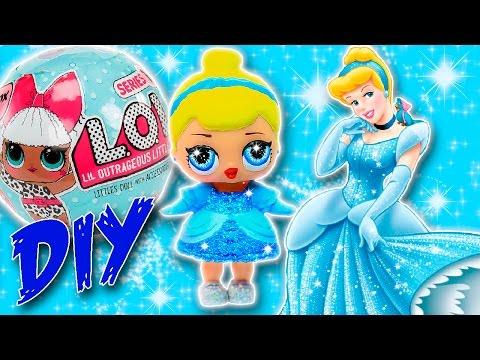 DIY CINDERELLA LOL Surprise Custom Doll | Disney Princess Tutorial & LOL Dolls Unboxing