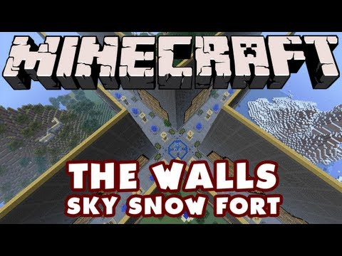 Minecraft - The Walls - Sky Snow Fort