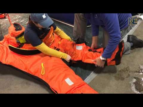 Testing the White Glacier Artic 25 Survival Suit