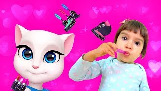 My Talking Angela | Dance & Makeup with Arina together