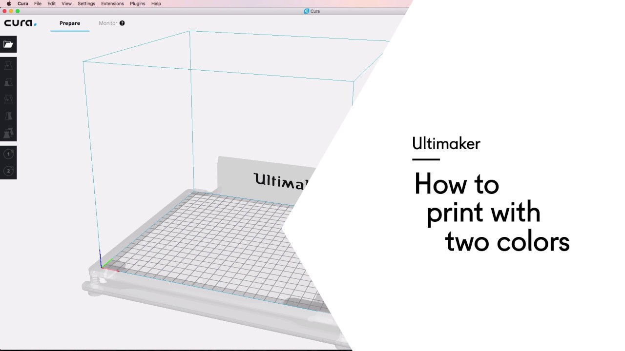 Ultimaker: How to print with two colors