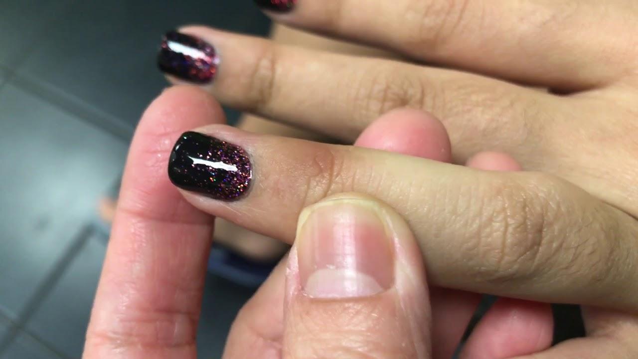 black dip powder nails