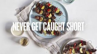 Middle Eastern-Style Lamb Skewers | Caught Short Cook Book
