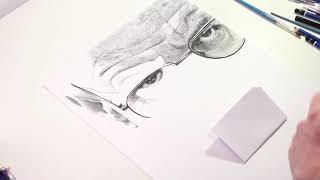 Speed Drawing : Walter White (Heisenberg) in Breaking Bad