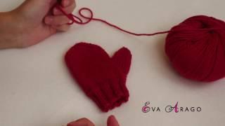 видео Детские вязаные перчатки