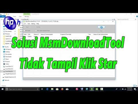 Tutorial Mengatasi DownloadTool pada Oppo tidak bisa klik START, Oppo DownloadTool Cannot click STAR.