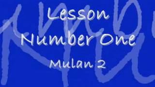 Download Lesson Number One - Disney Lyrics MP3 song and Music Video