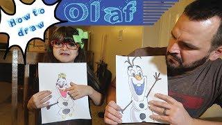 OLAF HAS A CAVITY! | How to Draw Olaf the Snowman