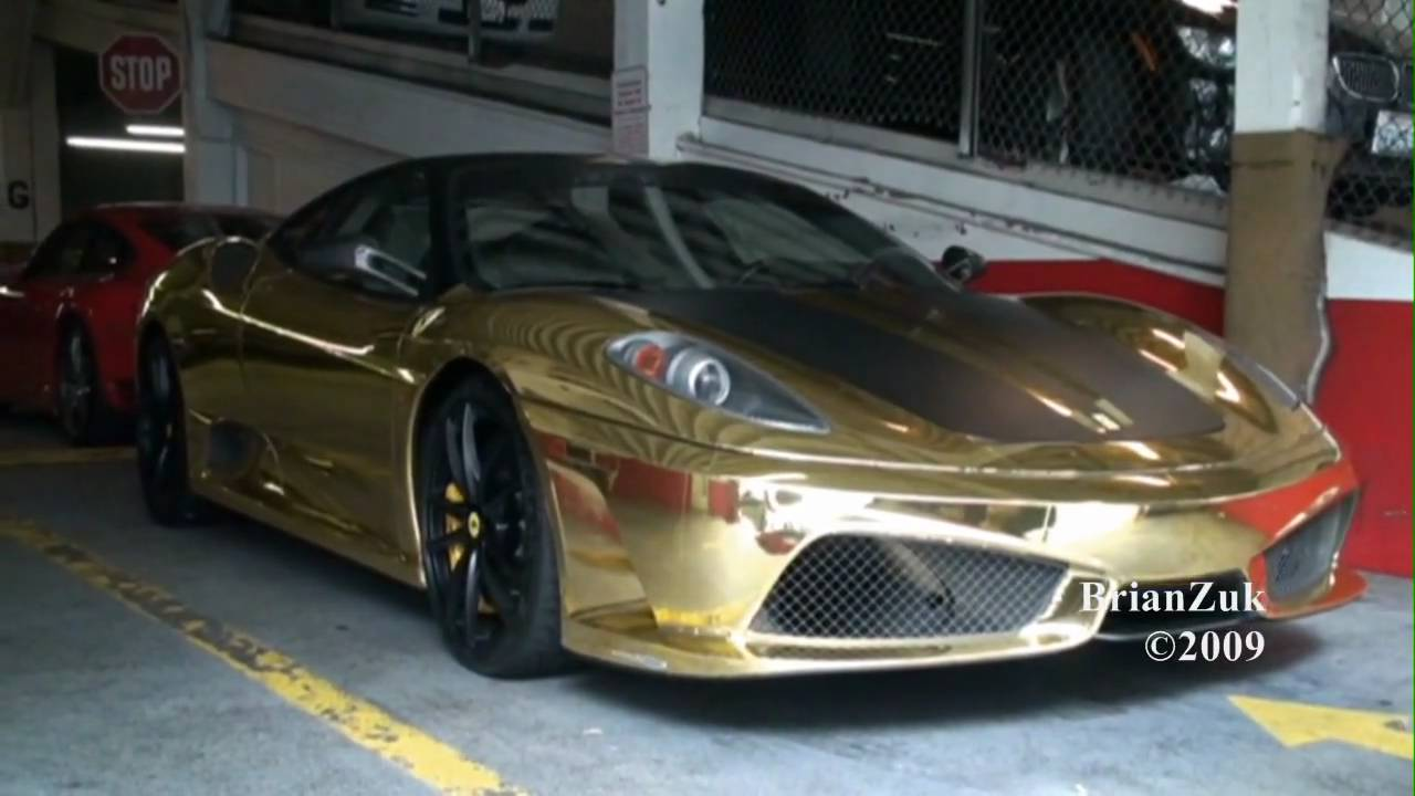 Gold Ferrari 430 Scuderia YouTube