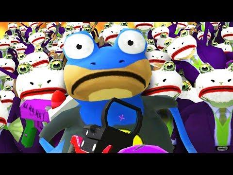 BAT FROG vs JOKE FROG ARMY! - Amazing Frog - Part 135   Pungence