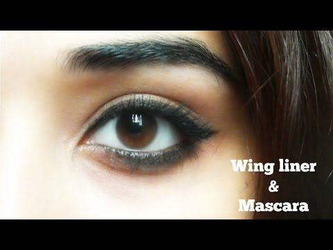 Beginners Wing Eyeliner & Mascara Makeup Tutorial
