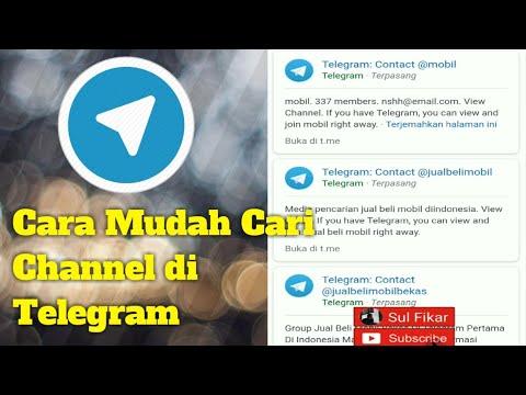 Cara Mudah Cari Channel di Telegram