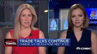 China trade talks continue in Washington