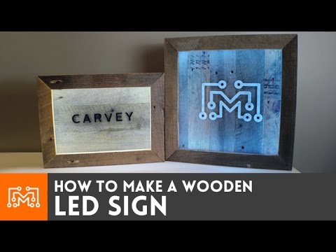 LED sign with reclaimed wood // How-To