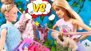 БАТТЛ МЕЖДУ СОСЕДЯМИ: не сушите здесь свои панталоны! Куклы Мама Барби