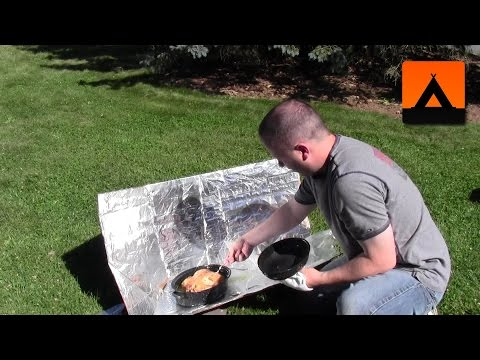 How to cook a chicken in a solar box oven or panel cooker
