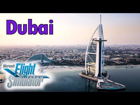 Flight Simulator 2020 – Dubai, Burj Khalifa, Burj Al Arab, Dubai Int, Palm Island