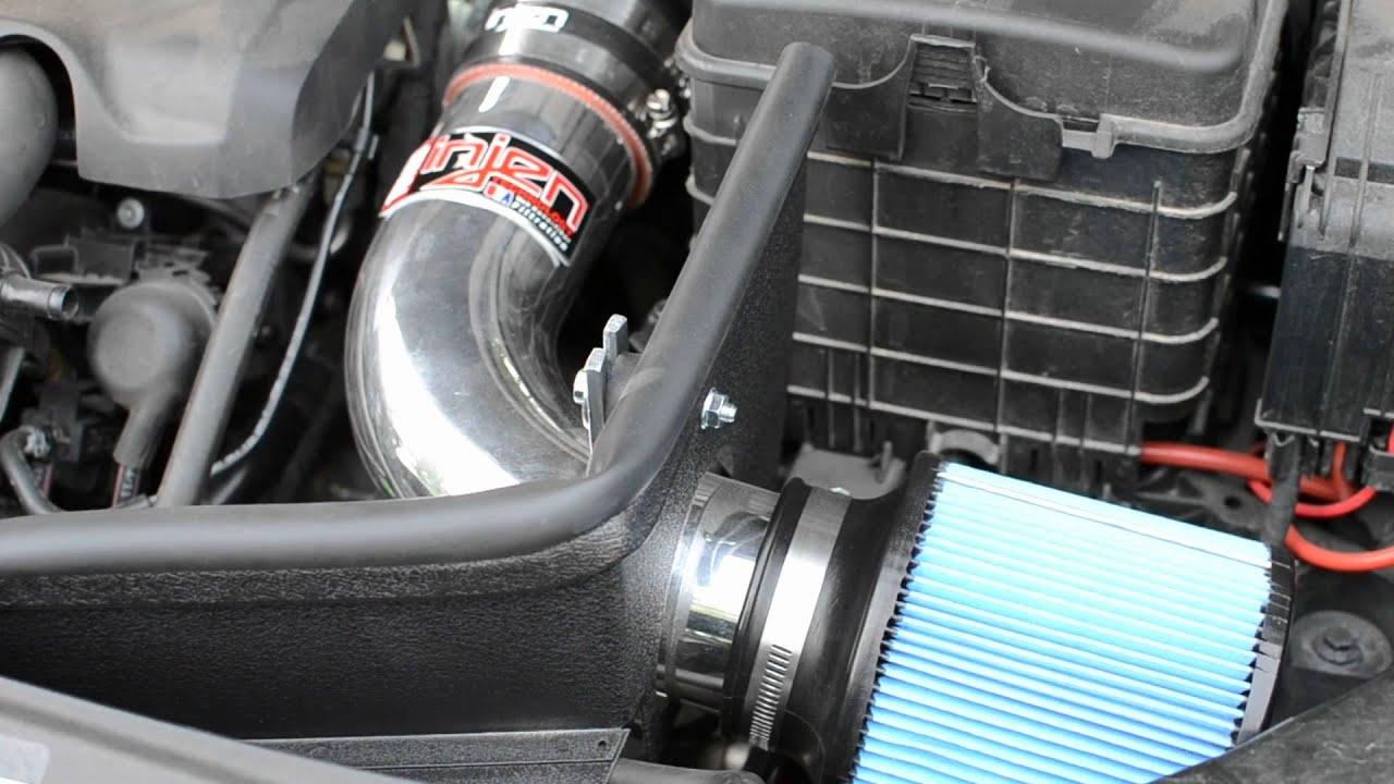 MK6 GTI Injen short ram intake, Forge diverter valve spacer engine sound