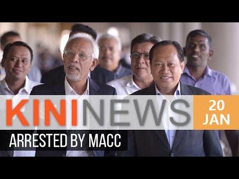 Ahmad Maslan, Shahrir arrested by MACC   Kini News - 20 Jan