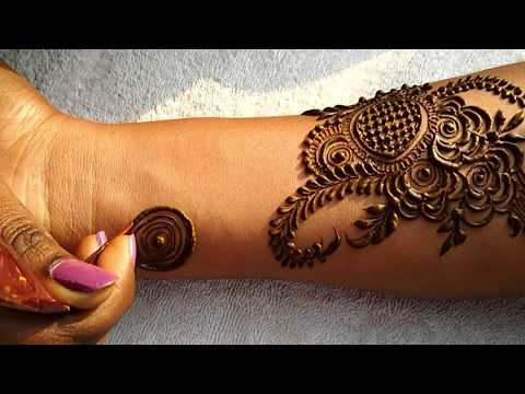 Dubai henna mehndi #2 | Step by step latest mehndi design for hand | Henna mehndi 2018 |