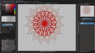 Medibang tutorial: Radial Symmetry