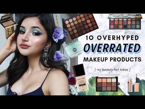 10 OVERHYPED + OVERRATED MAKEUP PRODUCTS ✰ cult favorite products I think are meh thumbnail