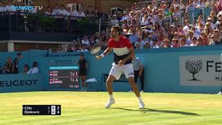 Cilic Defeats Djokovic to Wins Second Queen's Title | Queen's 2018 Final Highlights
