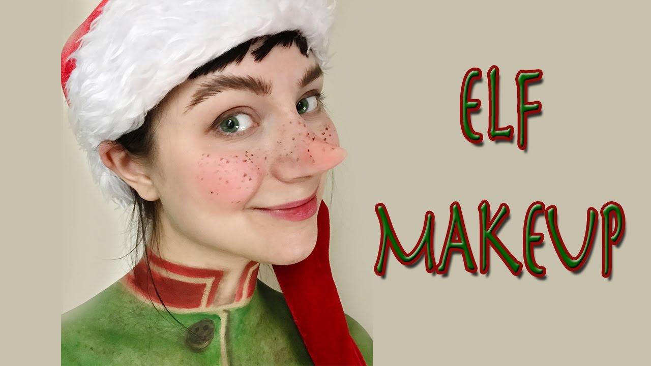 cute elf christmas makeup tutorial - Christmas Elf Makeup