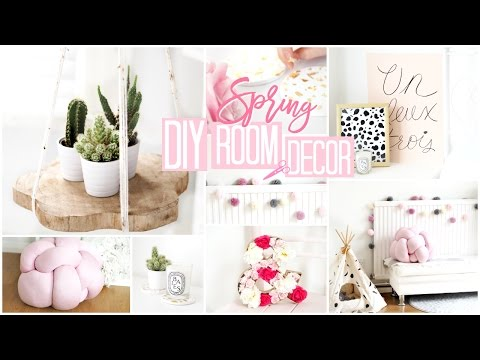 DIY ROOM DECOR | 6 Quick & Easy Spring DIY's!  Becca Rose