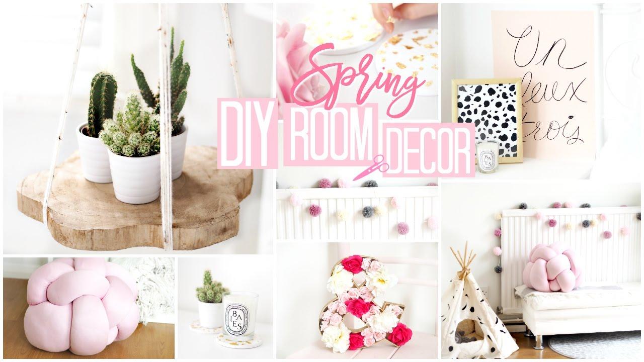 DIY ROOM DECOR | 6 Quick & Easy Spring DIY's!  Becca Rose