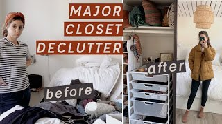 Declutter with Me (Konmari Method) Curating my Dream Minimalist Closet