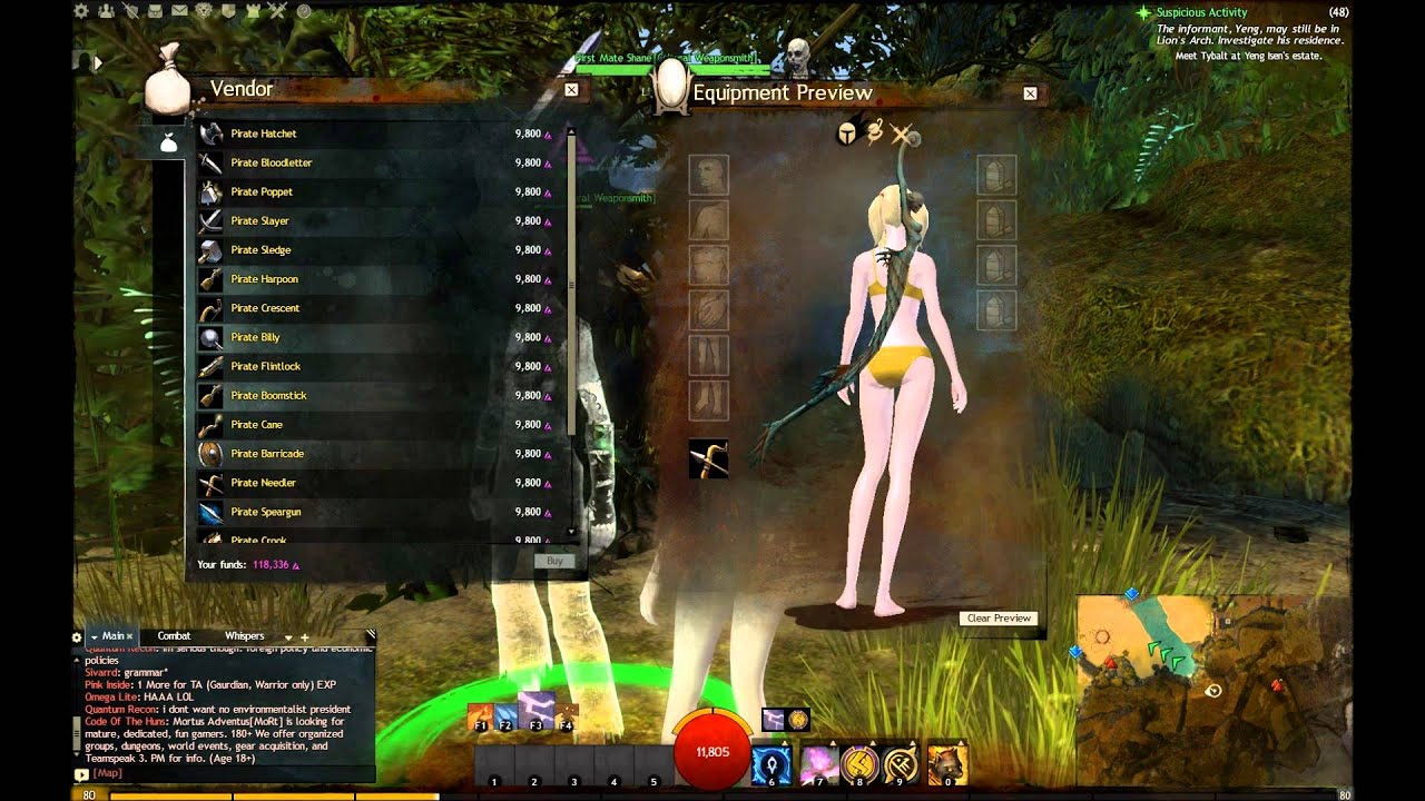 GW2 First Mate Shane Pirate Karma Weapons