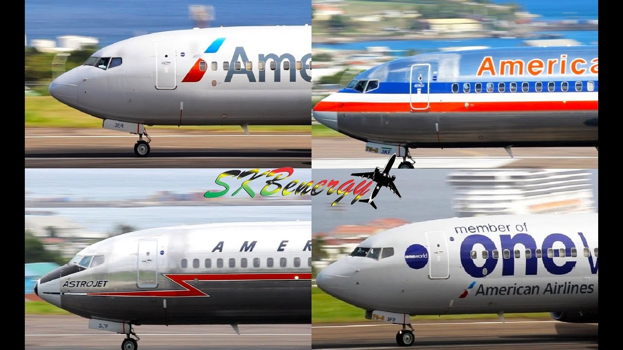 4 Four Different Livery Departures American Airlines